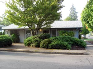 Clarity Wealth Development office in Corvallis, Oregon, before remodeling and landscaping work.